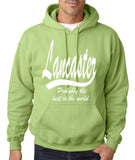 "LANCASTER Probably The Best City In The World Mens Hoodies White-Hoodies-Gildan-Kiwi-S To Fit Chest 36-38"" (91-96cm)-Daataadirect"