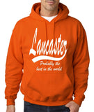 "LANCASTER Probably The Best City In The World Mens Hoodies White-Hoodies-Gildan-Orange-S To Fit Chest 36-38"" (91-96cm)-Daataadirect"