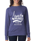 LANCASTER Probably The Best City In The World Womens SweatShirts White-ANVIL-Daataadirect.co.uk