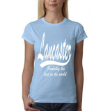 LANCASTER Probably The Best Womens T Shirts White-Gildan-Daataadirect.co.uk