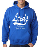 LEEDS Probably The Best City In The World Mens Hoodies White-Gildan-Daataadirect.co.uk