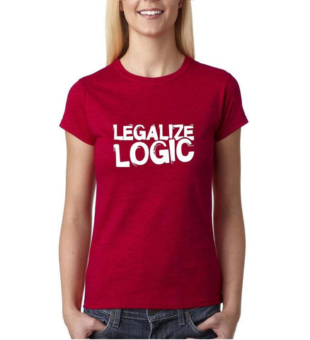 Legalize logic White Womens T Shirt-Daataadirect