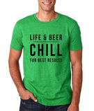 Life and Beer chill Black Mens T Shirt-Gildan-Daataadirect.co.uk