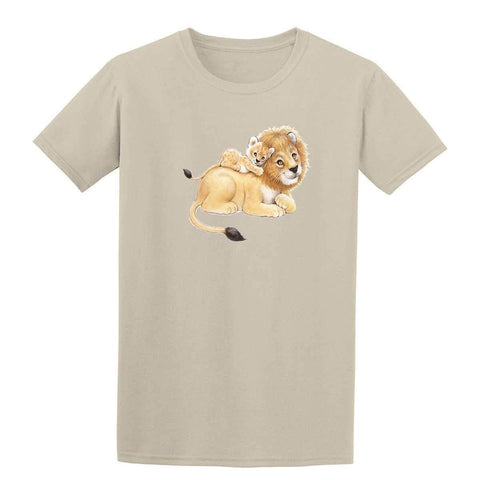 Lion Dad and Cub 20193HL6 Kids T Shirt-t-shirts-Gildan-Sand-YXS-Daataadirect
