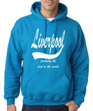 LIVERPOOL Probably The Best City In The World Mens Hoodies White-Gildan-Daataadirect.co.uk