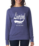 LIVERPOOL Probably The Best City In The World Womens SweatShirts White-ANVIL-Daataadirect.co.uk