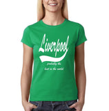 LIVERPOOL Probably The Best City In The World Womens T Shirts White-Gildan-Daataadirect.co.uk