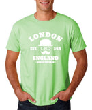 "London England Hipster Men T Shirts White-T Shirts-Gildan-Mint Green-S To Fit Chest 36-38"" (91-96cm)-Daataadirect"