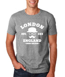 "London England Hipster Men T Shirts White-T Shirts-Gildan-Sport Grey-S To Fit Chest 36-38"" (91-96cm)-Daataadirect"