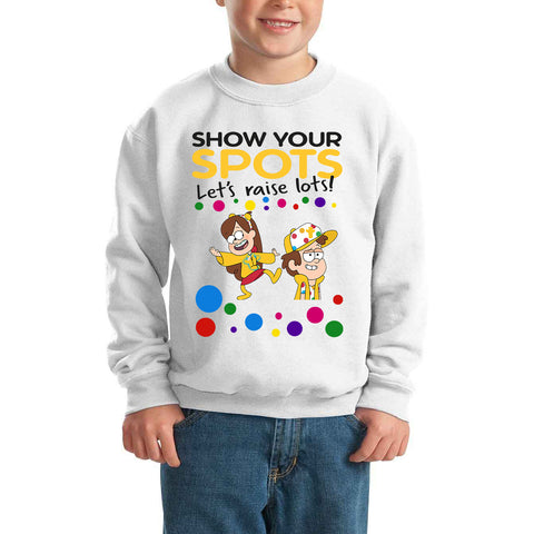 Mabel dipper Pudsey Bear Spotty Day - Kids SweatShirt-Gildan-Daataadirect.co.uk