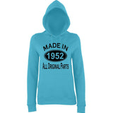 Made In 1952 All Orignal Parts Women Hoodies Black-AWD-Daataadirect.co.uk