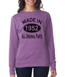 Made in 1952 All Original Parts Women Sweat Shirts Black-ANVIL-Daataadirect.co.uk