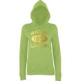 Made In 1954 All Orignal Parts Women Hoodies Gold-AWD-Daataadirect.co.uk