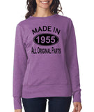 Made in 1955 All Original Parts Women Sweat Shirts Black-ANVIL-Daataadirect.co.uk