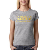 Made In 1956 All Original Parts Gold Womens T Shirt-Gildan-Daataadirect.co.uk