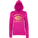 Made In 1956 All Orignal Parts Women Hoodies Gold-AWD-Daataadirect.co.uk