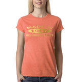 Made In 1957 All Original Parts Gold Womens T Shirt-Gildan-Daataadirect.co.uk