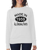 Made in 1959 All Original Parts Women Sweat Shirts Black-ANVIL-Daataadirect.co.uk