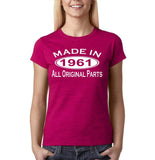 Made In 1961 All Original Parts White Womens T Shirt-Gildan-Daataadirect.co.uk