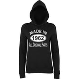 Made In 1962 All Orignal Parts Women Hoodies White-AWD-Daataadirect.co.uk