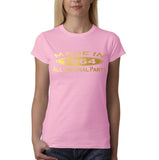 Made in 1964 All Original Parts Gold Womens T Shirt-Gildan-Daataadirect.co.uk