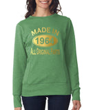 Made in 1964 All Original Parts Women Sweat Shirts Gold-ANVIL-Daataadirect.co.uk