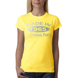 Made in 1965 All Original Parts Silver Womens T Shirt-Gildan-Daataadirect.co.uk