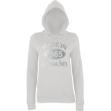 Made In 1965 All Orignal Parts Women Hoodies Silver-AWD-Daataadirect.co.uk