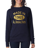 Made in 1965 All Original Parts Women Sweat Shirts Gold-ANVIL-Daataadirect.co.uk
