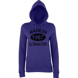 Made In 1967 All Orignal Parts Women Hoodies Black-AWD-Daataadirect.co.uk