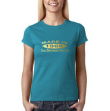 Made in 1968 All Original Parts Gold Womens T Shirt-Gildan-Daataadirect.co.uk