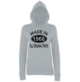 Made In 1968 All Orignal Parts Women Hoodies Black-AWD-Daataadirect.co.uk