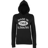 Made In 1968 All Orignal Parts Women Hoodies White-AWD-Daataadirect.co.uk