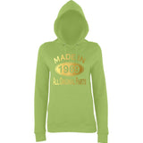 Made In 1969 All Orignal Parts Women Hoodies Gold-AWD-Daataadirect.co.uk