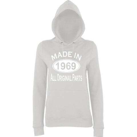 Made In 1969 All Orignal Parts Women Hoodies White-AWD-Daataadirect.co.uk
