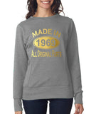 Made in 1969 All Original Parts Women Sweat Shirts Gold-ANVIL-Daataadirect.co.uk