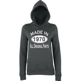 Made In 1970 All Orignal Parts Women Hoodies White-AWD-Daataadirect.co.uk