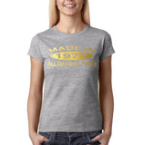 Made in 1971 All Original Parts Gold Womens T Shirt-Gildan-Daataadirect.co.uk