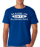 Made In 1972 All Original Parts White Mens T Shirt-Gildan-Daataadirect.co.uk
