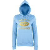 Made In 1972 All Orignal Parts Women Hoodies Gold-AWD-Daataadirect.co.uk