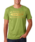 Made In 1973 All Original Parts Gold Mens T Shirt-Gildan-Daataadirect.co.uk