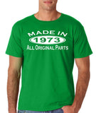 Made In 1973 All Original Parts White Mens T Shirt-Gildan-Daataadirect.co.uk