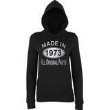Made In 1973 All Orignal Parts Women Hoodies Silver-AWD-Daataadirect.co.uk