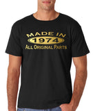Made In 1974 All Original Parts Gold Mens T Shirt-Gildan-Daataadirect.co.uk