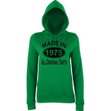 Made In 1975 All Orignal Parts Women Hoodies Black-AWD-Daataadirect.co.uk