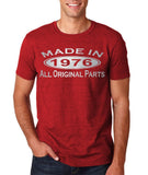 Made In 1976 All Original Parts Silver Mens T Shirt-Gildan-Daataadirect.co.uk
