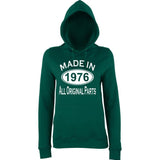 Made In 1976 All Orignal Parts Women Hoodies White-AWD-Daataadirect.co.uk