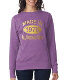 Made in 1976 All Original Parts Women Sweat Shirts Gold-ANVIL-Daataadirect.co.uk