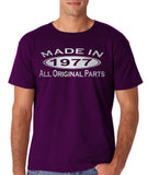 Made In 1977 All Original Parts Silver Mens T Shirt-Gildan-Daataadirect.co.uk