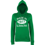 Made In 1977 All Orignal Parts Women Hoodies White-AWD-Daataadirect.co.uk